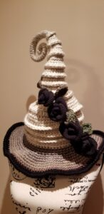 Black Rose Twisted Witch Hat